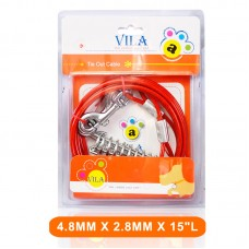 VILA TIE OUT PVC CABLE 4.8MMX2.8MMX15``