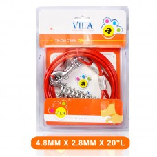 VILA TIE OUT PVC CABLE 4.8MMX 2.8MMX20``