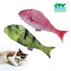 DOGLEMI REFILLING CATNIP TOY FISH-PINK