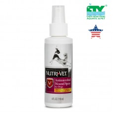 NUTRI-VET ANTIMICROBIAL WOUND SPRAY FOR DOG 118ML